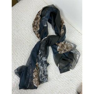 NEW Cejon Opposites Attract Floral Oversized Scarf